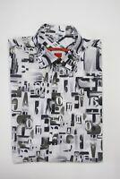 SIGNUM Hemd kurzarm Regular Cut, Gr. M, weiß, gemustert UVP 69,95 €