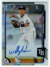 2015 Bowman Chrome Willy Adames Refractor Auto /499 Rays Autograph