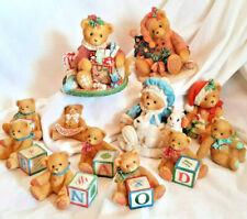 Set of 12 Cherished Teddies (4 Xmas Annette, Denise, Kayla Sonja), 7 Minis + Pin