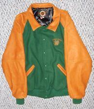 Dehen NOTRE DAME FIGHTING IRISH Wool & Leather Letter Jacket - Large