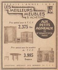 Z9262 Meubles Aux Petits Agneaux -  Pubblicità d'epoca - 1932 Old advertising