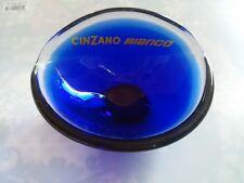 CINZANO: Cendrier  Posacenere, Ashtray en verre bleu