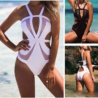 Women's One Piece Swimwear Mesh Bandage Bikini Monokini Swimsuit Bathing Suit