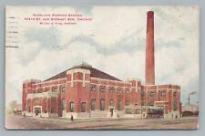 Roseland Pumping Station 104th & Stewart Avenue CHICAGO Rare Antique Postcard