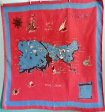 "VTG Emilio Pucci Signed Scarf 1952 Isle of Capri Map Museum Piece Silk 33"" x 36"""