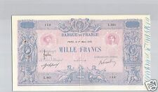 FRANCE 1 000 FRANCS BLEU ET ROSE 1 MARS 1916 ALPHABET L.921 QUALITE !!!