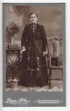 Gunzenhausen o.Wassertrüdingen, Frau in Bayrischer Tracht Kabinettfoto CDV ~1890