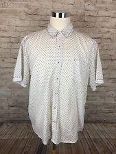 Vintage Italia Reserved Rack 1958 Men's White Geometric Squares BF Polo XXL