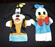 "DISNEY BABY Soft 12"" Hand Puppets GOOFY & DONALD DUCK by Melissa & Doug"