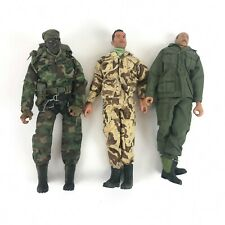 "Lot of 3: Vintage 21st Century Toys 12"" 1:6 Action Figures Clothes Facepaint"