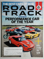 2013 2014 ROAD & TRACK CAR MAGAZINE DECEMBER JANUARY CORVETTE SLS PORSCHE GT-R
