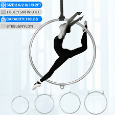 "32"" 34"" 36"" 38"" Aerial Lyra Hoop Dancing Circus Rings Yoga Equipment Set Home"