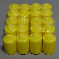24 Stück Stumpenkerzen 2 Wahl Kerzenbruch 90x50mm Kerzenreste Kerzengießen Gelb