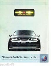 PUBLICITE ADVERTISING 056  2003    la Saab 9-3 aero 210ch