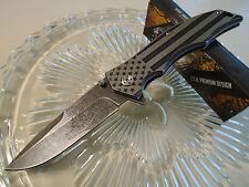 Mtech Xtreme Ballistic Assisted Dont Tread On Me Pocket Knife Hogarth MX-A849AS