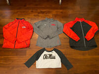 Lot Of 4 Womens Nike Ole Miss Jackets Pullover Shirt Size Large L XL