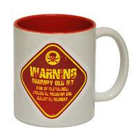 Warning Grumpy Old Git Selective Memory Joke Humour Slogan MUG birthday funny