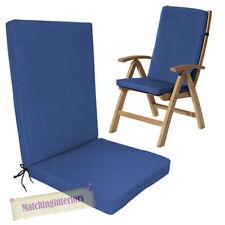 Chaise de jardin de jardin et de terrasse bleus
