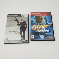 Lot of (2) 007 Nightfire & Quantum of Solace (Playstation, PS2) Games