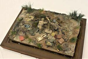 "PRO-BUILT 1/35 a diorama ""Mortar"" GERMAN 12cm GRANATWERFER 42 MORTAR w/CREW"