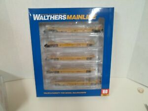 Walthers mainline Thrall 5 unit rebuilt 40ft well car  TTX DTTX3 748241