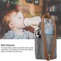 Portable Travel Bottle Warmer Heater Travel Baby Kids Milk Water USB Storage Bag