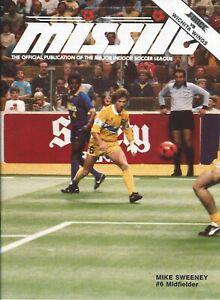 1986 Cleveland Force vs. Wichita Wings MISL Soccer Program #FWIL RARE