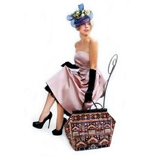 LARGE VICTORIAN MARY POPPINS CARPET BAG. NEW