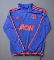 Manchester United Sweatshirt Training S Blue Pullover Mens Football Adidas ig93