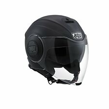 Agv Casco Moto Jet Fluid Solid Matto Nero S