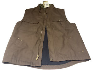 Browning  Canvas Vest Xl Pockets Zipper Jacket Insulated Hunting Fishing Jacket