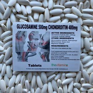 Los Vitamina Glucosamina 500MG Condroitina 400MG 365 Tabletas Ahora Revestido -