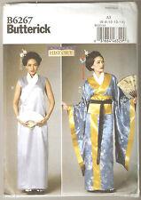 Butterick Sewing Pattern B6267 Miss Geisha Kimono & Obi Costume Sz 6-14