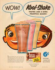 1949 vintage Beverage KOOL SHAKE Milk Shake Mix great cartoon ad  121716