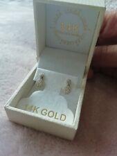 Lulea 14 K Gold Studs Earrings Authentic