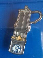 Schalke 04 / FEHLDRUCK /Einzigartig / Anstecker Grubenlampe  / Falschpressung