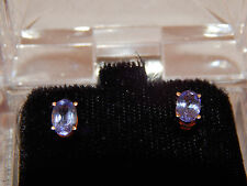 Large 1.0 tcw Natural Tanzanite Stud Earrings 14k Yellow Gold Gorgeous Butterfly
