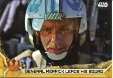 Star Wars Rogue One Series 2 Gold Base Card #63 General Merrick Leads his Squad