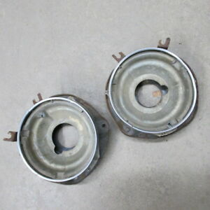 1966 CHEVROLET CHEVY II NOVA FRONT HEADLIGHT LAMP BRACKETS AND SEALED BEAM CUPS