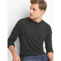 Gap Men's Essential Long-Sleeve Crewneck Tee Indigo Size M item #243303