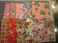 Assorted 10 Piece Vintage Feedsack Fabric Assortment Quilts or Crafting _