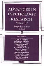 Los avances en Psicología Investigación: V. 32-Nuevo Libro