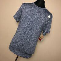 New Reebok S Small Men Shirt Gray Crew Neck Classic Fit Short Sleeve Athletic B3