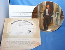 """Gone With The Wind Collector Plate """"Rhett"""" Knowles Collection Limited Edition"""