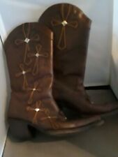 Women's Stetson Brown Leather Boots Size 8 Pointy