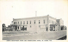 St Cloud FL Conn's Department Store Penn. Ave. Hotel Store Fronts Postcard