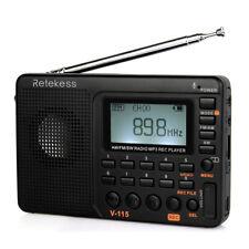 RetekessV115 FM/AM/SW Portable Radio World Band Receiver MP3 Player REC Recorder