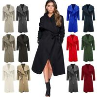 Ladies Italian Waterfall Celebrity Coat Womens Oversized Drape Open Long Duster