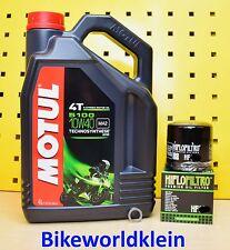 Suzuki GSX-R 1000 01-18 Öl + Ölfilter Motul 5100 10w40 GSXR Ölwechsel Set