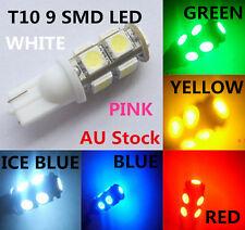 LED 9 SMD T10 5050 Car Bulb Parker Reverse Interior Plate Light Multicolours B15 Red 6